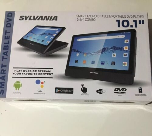 Sylvania SLTDVD1023 Smart Android 9 Tablet / DVD Player 2-in
