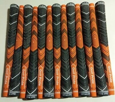 13x Golf Pride MCC Plus 4 Multicompound Golf Grips Orange Midsize set