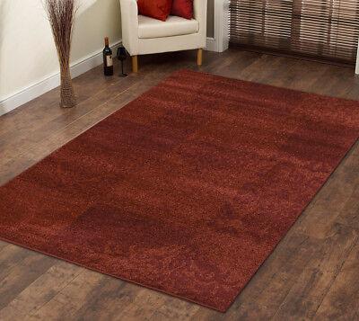 Contemporary Cherry (Area rug contemporary, floral living room Red )
