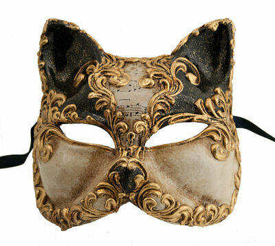 Mask from Venice Cat Musica in Paper Mache Prestige and Luxury -GT2-1746