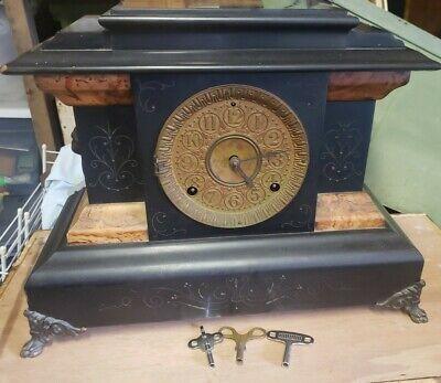 Antique Seth Thomas Mantle Clock Lion for Parts or Repair