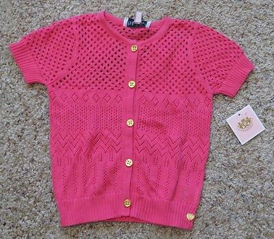 Juicy Couture Baby Girls Pink Sweater - Size 12-18 Months - NWT