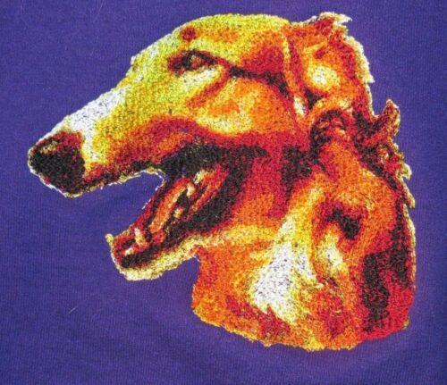 Embroidered Sweatshirt - Borzoi DLE1489  Sizes S - XXL