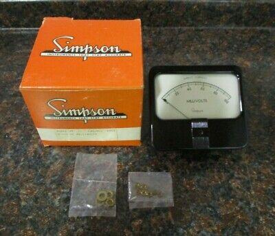 Simpson Model 29 Analog Panel Meter 100 - 0 - 100 Dc Microamperes Nos