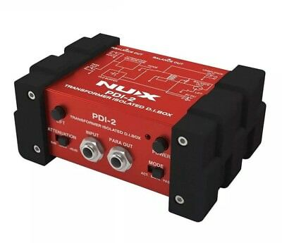 NUX PDI-2 Guitar Transformer Isolated D.I. Box for Stage -