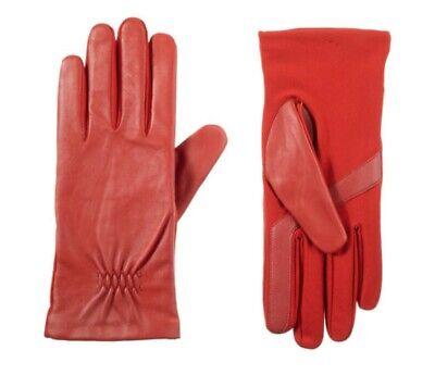 ISOTONER smartDRI Women's Textured Texting Knit Ski Gloves, Red