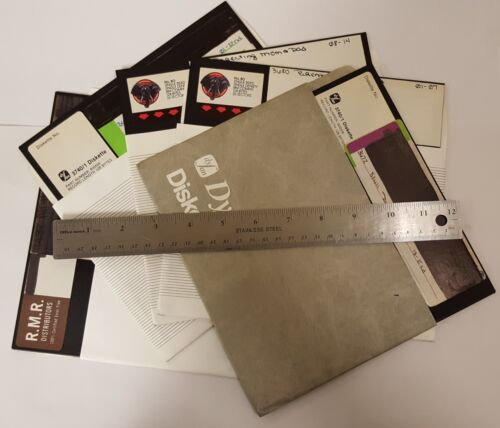 8 INCH FLOPPY DISKS! (5 Pack)  PROMOTIONAL/NON-WORKING FLOPPY DISKETTES.