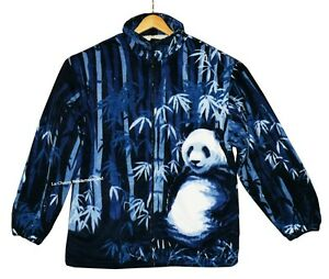 Fleece-Jacke Pandabär Gr. 3XL,Teddy-Futter, Zoo, Bambus Bär Panda, ohne Kapuze