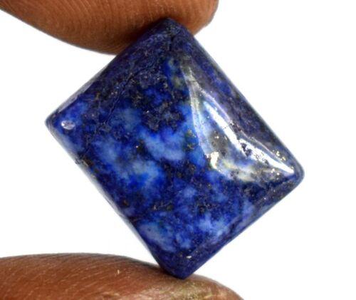 Lapis Lazuli Healing Gemstone Emerald Shape 11 Ct Natural Gold Pyrite Flakes