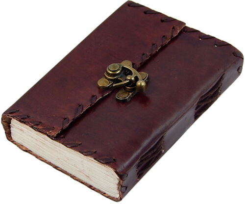 Small 1842 Poetry Genuine Leather Journal Book  (Handmade) with lock - 40% off