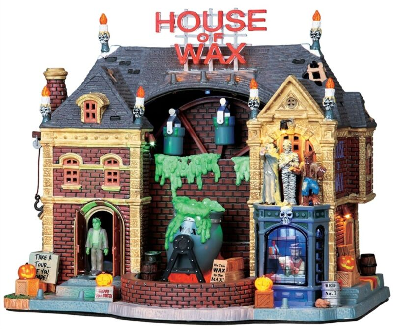 Lemax Spooky Town House of Wax #95827 ~ Rare ~ Great Condition Halloween Village