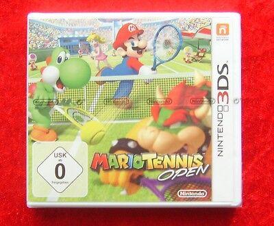 Mario Tennis Open, 3D Nintendo 3DS Spiel, Neu, deutsche Version