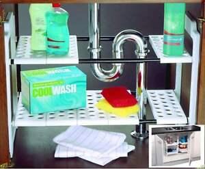 under sink storage shelf shelves organizer space saving. Black Bedroom Furniture Sets. Home Design Ideas