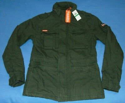 NWT  MEN'S  SUPERDRY  ROOKIE  MILITARY FIELD JACKET  GREEN  LARGE  NEW