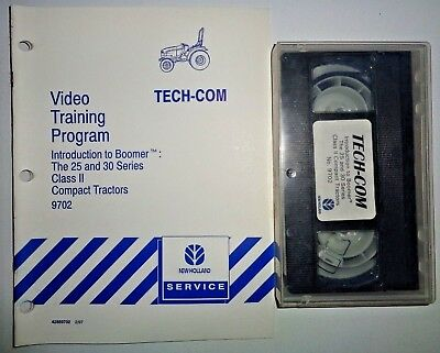 New Holland Boomer 25 30 Class Ii Tractor Training Program Manual Video Nh