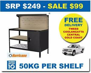 WORKBENCH + PEGBOARD for garage shed workshop and more & Cabinet Bundall Gold Coast City Preview