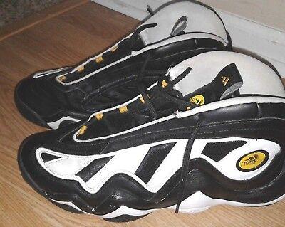 6ca734322b40 Adidas Crazy 97 Black White Gold Sneaker Shoes Men Size 12