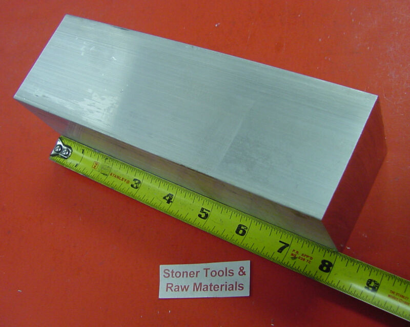 "2-1/4"" X 2-1/4"" ALUMINUM SQUARE 6061 SOLID BAR 8"" long T6511 Mill Stock 2.25"