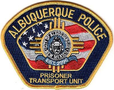 Albuquerque Police Prisoner Transport Unit New Mexico gold patch NEW