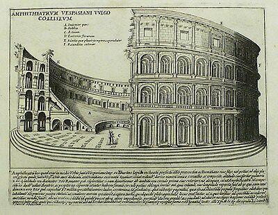 ROM / ROMA - Kolosseum - Giacomo Lauro - Kupferstich 1612