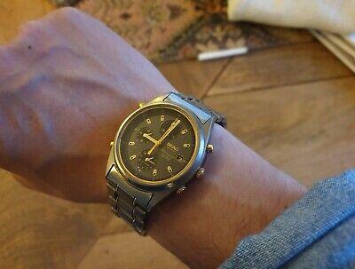 Seiko dual-tone alarm chronograph 7T32 quartz