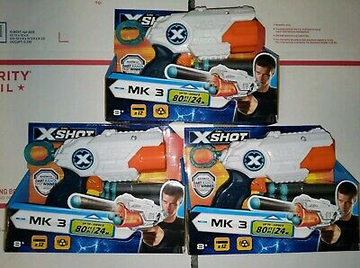 3 Nerf Gun Zuru X Shot MK3 Includes 36 Foam Darts XShot Toy Guns New