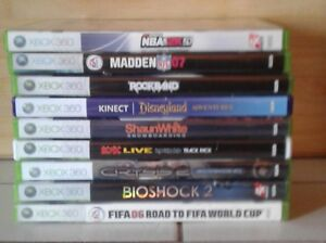 9 xbox 360 games in very good condition and  play perfect