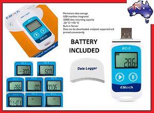 Elitech RC5 USB Temperature Data logger Datalogger Temp Recorder Internal Sensor