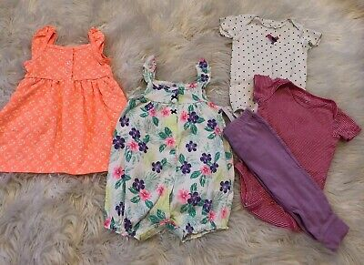Mixed Lot of Baby Girls Summer Clothes-Size 9 Months -5 Pieces Carter's Store](Girls Clothes Store)
