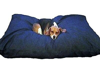 Blue Memory Foam Shredded Dog Bed Pillow, Waterproof liner, Denim Cover XXL 40B