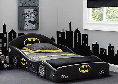 Toddler Bed Kid Frame Child Bedroom Furniture Boy Girl Batman Batmobile Safety