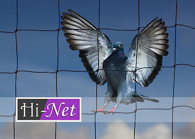 Anti Bird Netting Heavy Duty Garden Net Strong Pigeon Cat Run Mesh 50mm 20 X 20M