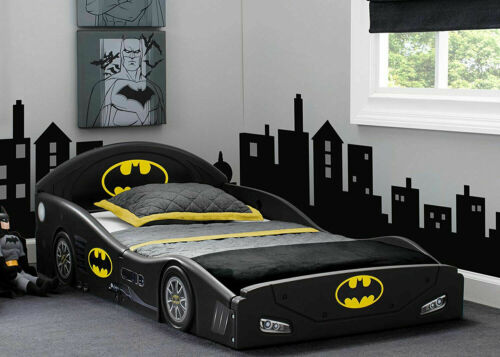 Toddler Kids Child Bed Play Sleep Batman Bedroom Car Guardrails Safe Plastic