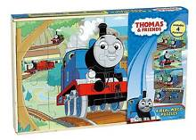 Thomas The Tank Engine Wood Puzzles (4-Pack) Manly Manly Area Preview