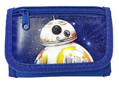Star Wars BB-8 Kids Tri-Fold Wallet for Boys Royal Blue Robot - Star Wars For Kids