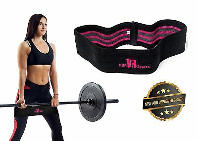 Resistance Hip Bands Circle by RIMSports -Best Glute Band for Legs Black &