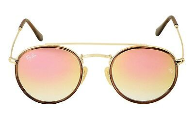 Ray-Ban RB3647N Round Double Bridge 001/7O Gold Frame/Copper Gradient Flash (Gold Copper Flash Ray Ban)