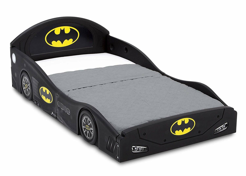 DC Comics Batman Batmobile Car Sleep and Play Toddler Bed wi