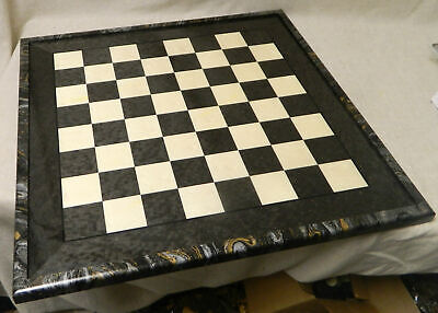 "NEW! 25"" Italian Hand Inlaid Glossy Briarwood Chess Board with 2 ¼"" -"