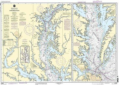 NOAA Chart Chesapeake Bay 11th Edition 12280