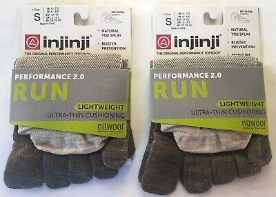 2 Pack Injinji Unisex Run Lightweight Mini Crew Toesocks Bundle