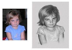 Portrait nach Foto malen zeichnen als Geschenk im Format A4, Geschenkidee