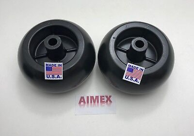 2 Deck Wheels For MTD 734-3058, 734-3058B, 753-04856A, AM116299 ,Murray 92683