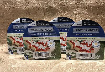 NEW YANKEE CANDLE CHRISTMAS COOKIE FRAGRANCED WAX MELT SET OF 4