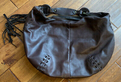 """Authentic """"INNUE"""" from Italy Large, Brown Leather Hobo Style Handbag-Gorgeous!"""