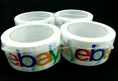 Ebay Branded White Packing Tape Set 4 Rolls 2 X 75 Yds Each