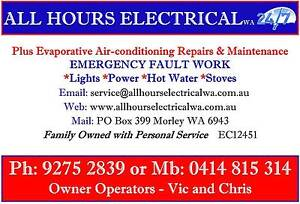 All Hours Electrical WA Air Conditioning - Evaporative Service Perth Perth City Area Preview