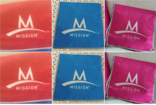 6 Mission ENDURACOOL Instant Cooling Fabric TOWEL Assorted  36 X 6(RBPk)
