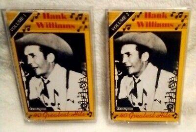 Hank Williams Sr 40 Greatest Hits Vols 1 & 2 Cassette Tape Set Polygram 1984