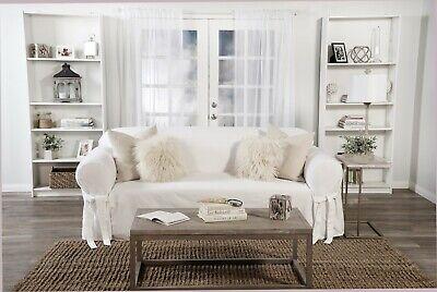 twill one piece sofa slip cover cotton